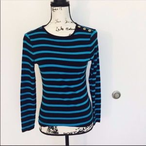 Ralph Lauren blue striped top